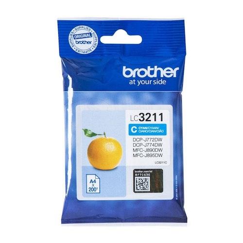 Brother LC-3211C cyan bläckpatron