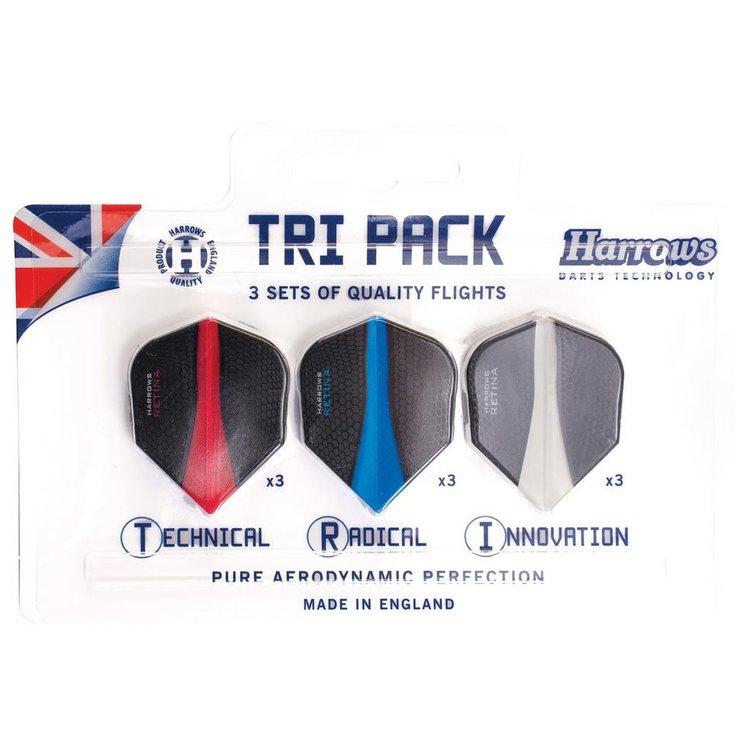 Harrows Retina Flights Tri Pack, dartvingar 9-pack