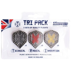 Harrows Tufftex Flights Tri Pack, dartvingar 9-pack