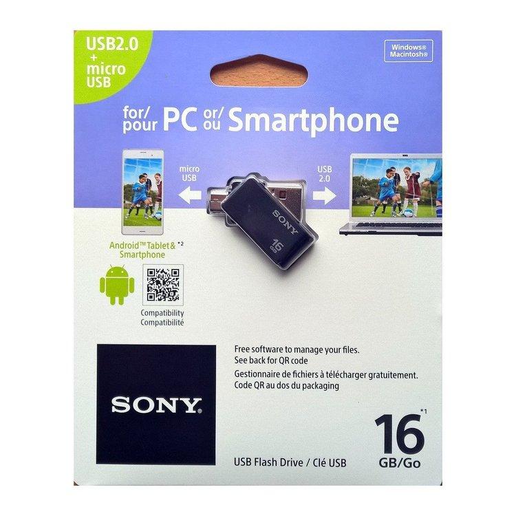Sony USMSA2 USB Flash Drive till Smartphone/PC - 16GB