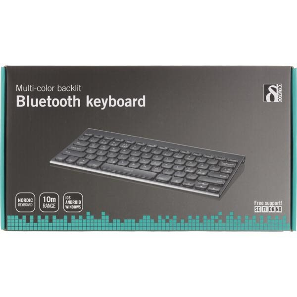 DELTACO multi-color backlit bluetooth keyboard