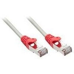 Cat5E 10m Vit nätverkskabel med Röd topp