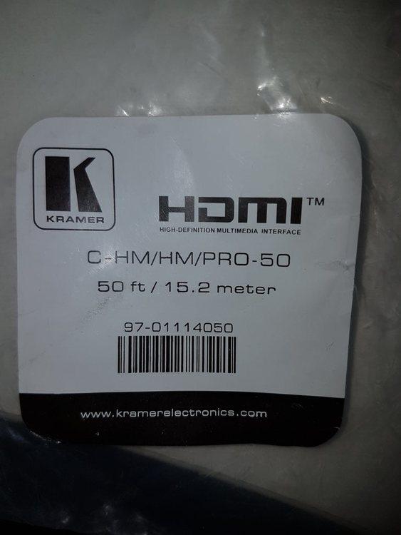 Kramer HDMI PRO kabel 15,2m med Ethernet  Ha-Ha