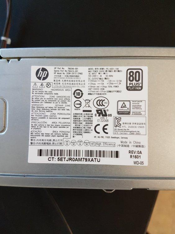 HP 796349-001 200W 4 Pin 12v Power Supply