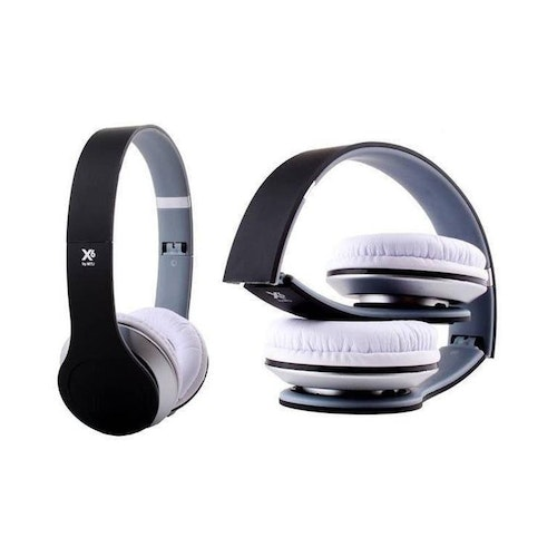 Headset X6 Rubber w/mic Black