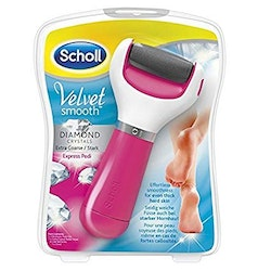Scholl Velvet Smooth Pedi Electric Foot File Hard Skin Remover, Pink