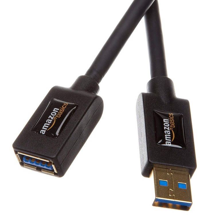 AmazonBasics USB 3.0 Extension Cable - A-Male to A-Female  3 Meter