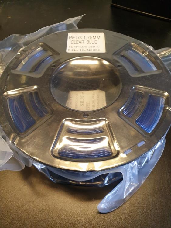 PETG 1.75mm clear blue filament