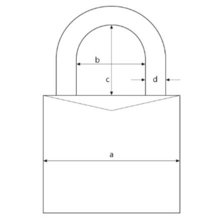 Hänglås ABUS Mycode 165/40