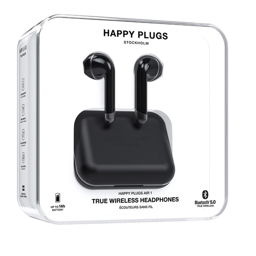 Stockholm Happy Plugs Air1 True Wireless Headphones Svart