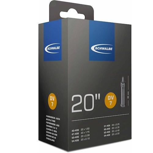 Cykelslang Schwalbe DV7 40/62-406 standardventil 40 mm