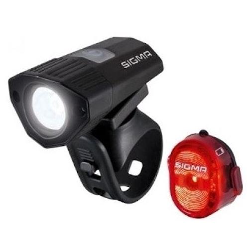Sigma Buster 100 K-Set LED Fram och Baklykta Till Cykel 120 lumen