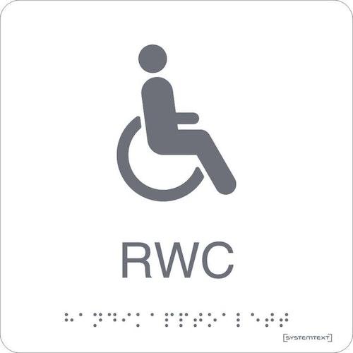 Taktil Skylt RWC Vit