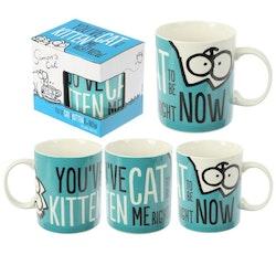 Simons Cat mugg - Blå