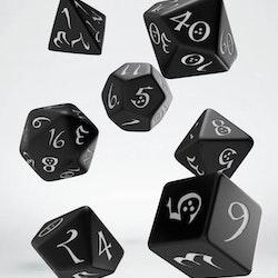 Tärningar - Black / White - Classic RPG