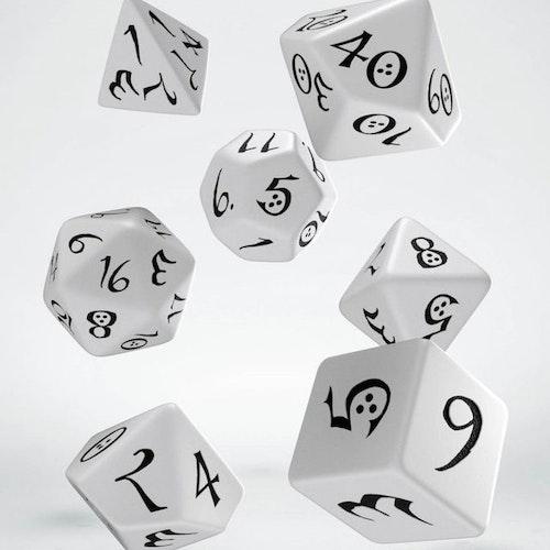 Tärningar - White / Black - Classic RPG