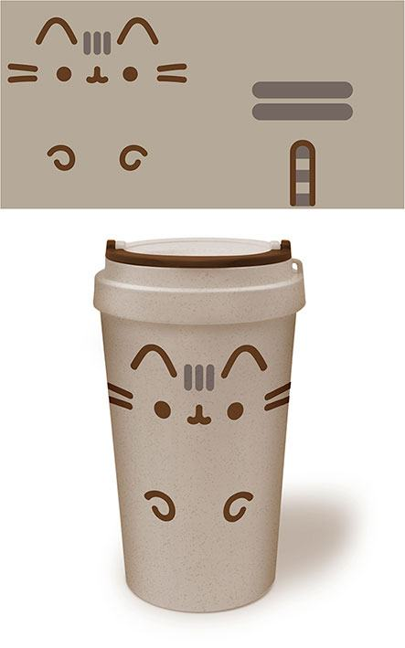 Pusheen - Ekologisk -Travel Mug