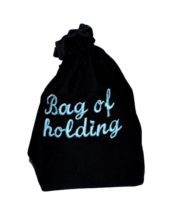 Broderad tärningspåse - Bag of Holding