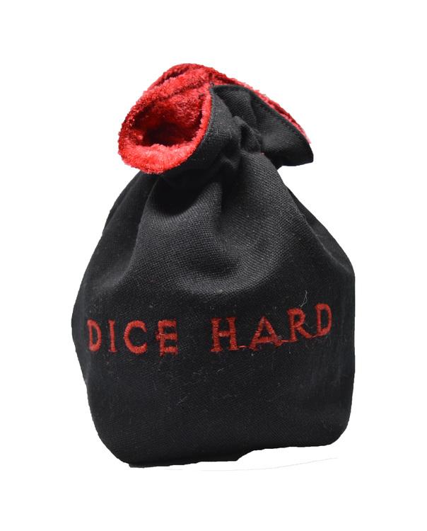 Broderad tärningspåse - Dice Hard