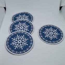 Snowflake glasunderlägg