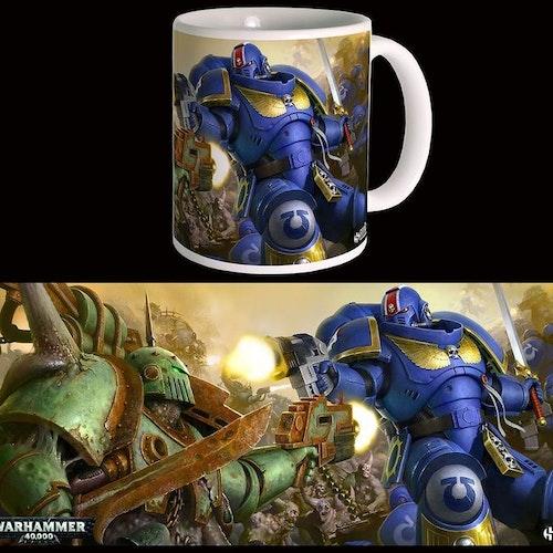 Warhammer 40k mugg - Ultramarines Vs Nurgle
