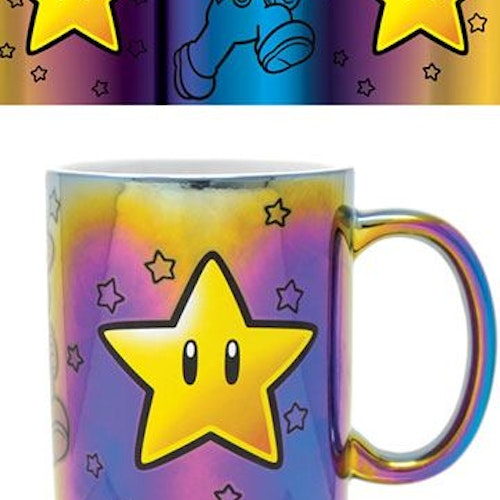Super Mario mugg - Star Power Metallic