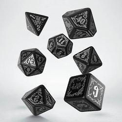 Tärningar - Bloodsucker set - Black & Silver