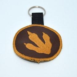 Broderad nyckelring - Dinoprint