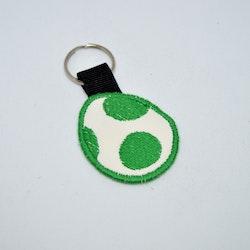 Broderad nyckelring - Yoshi Egg