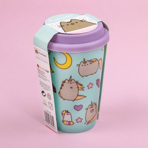 Pusheen Travel mug - turkos