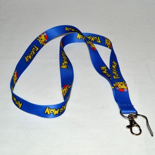 Nyckelband - Pokemon blå