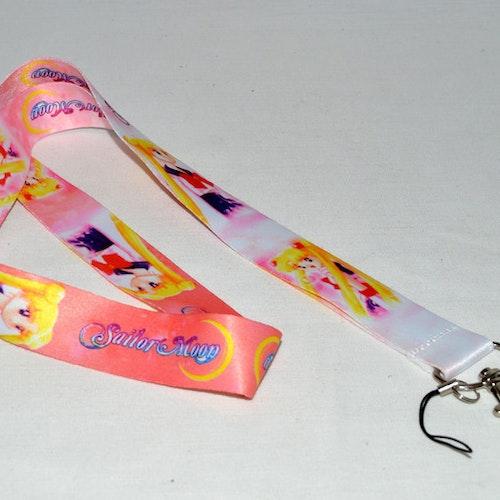 Nyckelband - Sailor Moon - rosa