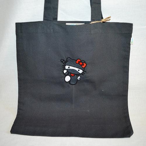 Ninja Kitty tygpåse