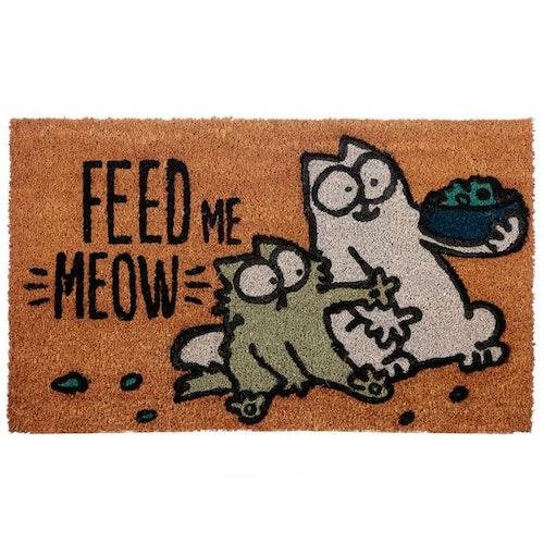 Simons Cat matta - Feed me Meow