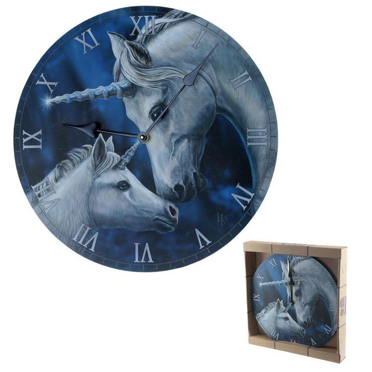 Väggklocka - Unicorn Love - Lisa Parker