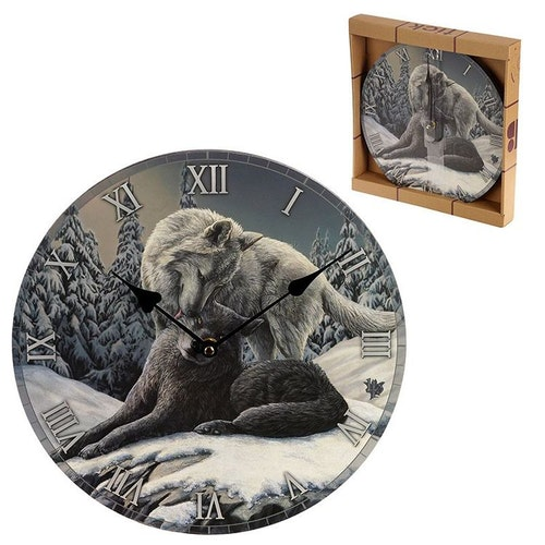Kopia Väggklocka - Wolf Kisses - Lisa Parker