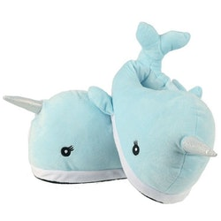 Kawaii Narval Plush Tofflor