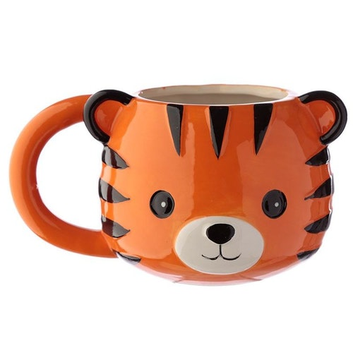 Cutiemals 3D mugg - Tiger