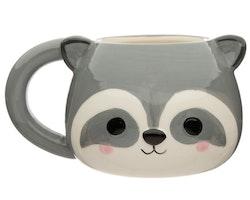 Cutiemals 3D mugg - Tvättbjörn