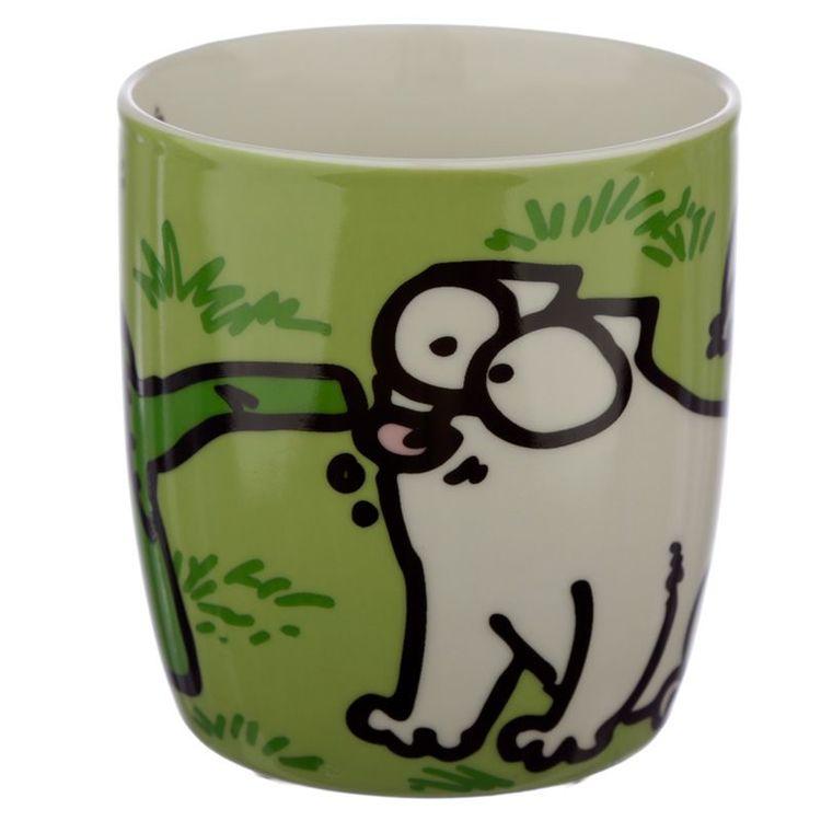 Simons Cat mugg - Grön