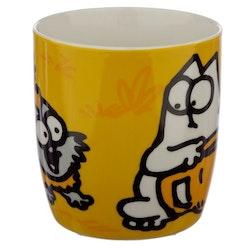 Simons Cat mugg - Gul