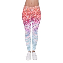 Leggings - Mönster - Rosa