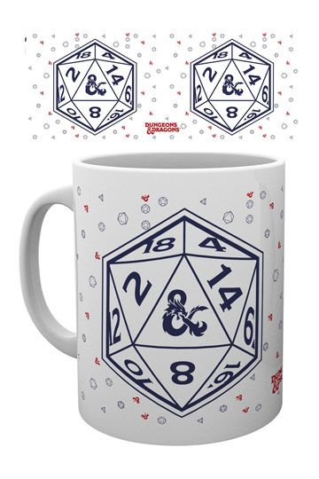 Dungeons and Dragons mugg - Tärning D20