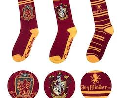 Harry Potter strumpor - 3-pack - Gryffindor