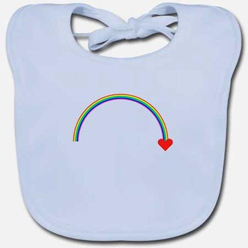 HAKLAPP BABY Ekologisk Regnbåge fler färger och motiv