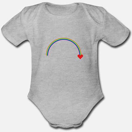 BABYBODY kortärmad Ekolokisk Regnbåge fler färger och motiv