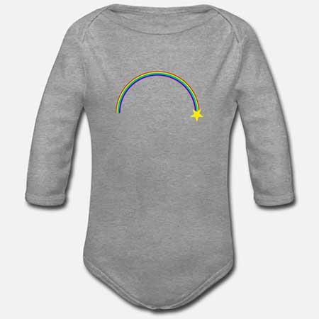 BABYBODY Långärmad Ekologisk Regnbåge fler färger och motiv
