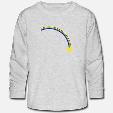 T-shirt långärmad Bomull Tonår fler färger och motiv