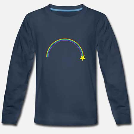 T-shirt långärmad Bomull Barn fler färger och motiv