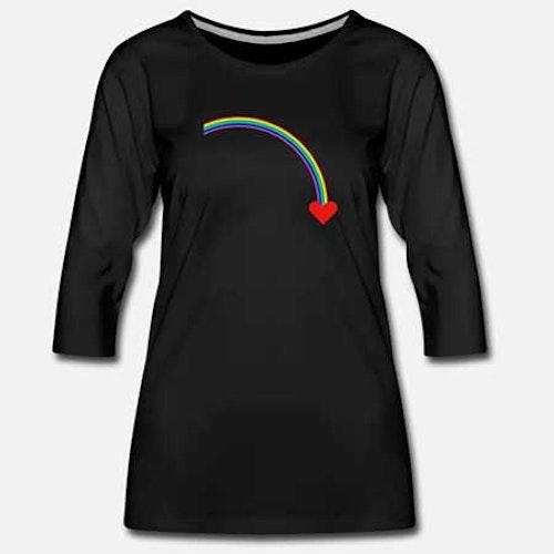 T-shirt 3/4-ärm Bomull Dam fler färger och motiv